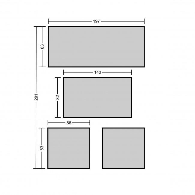 34d0afa0dff3 LIVORNO DINING GREY ratanový nábytok na terasu