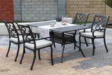 CHYVERTON TINTINHAL 4 kovové stoličky so stolom 89 x 158 cm
