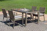 MEZZA ratanová súprava so stolom MEZZO 90 x 150 cm