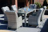 SIENA WHITE ratanová súprava so stolom 90 x 180 cm
