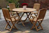 DAISY skladací okrúhly stôl priemer 120 cm z teakového dreva