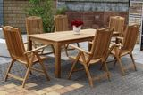 BARROW masívny stôl 100 x 220 cm z teakového dreva