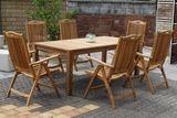 CASTELLO masívny stôl 100 x 200 cm z teakového dreva