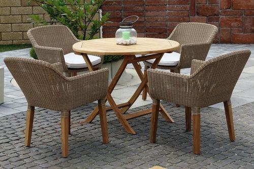 ANGELA DAISY ratanové stoličky s okrúhlym stolom priemer 100 cm