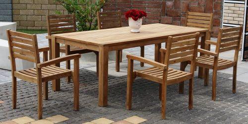BERNISE BARROW stohovateľné stoličky so stolom 100 x 220 cm