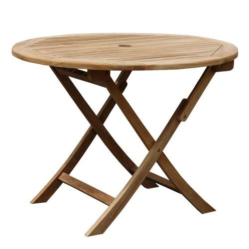 DAISY skladací okrúhly stôl priemer 100 cm z teakového dreva