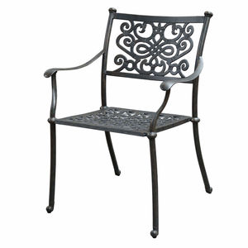 BARNSLEY kovová záhradná stolička