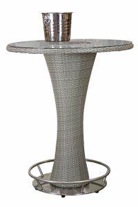 CANTON ratanový barový stôl s nádobou na sekt