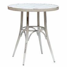 VINTAGE hliníkový okrúhly stôl priemer 70cm