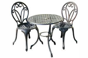 SET ROSE sedenie na balkón so stolom priemer 60 cm