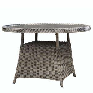 COVENTRY ratanový záhradný stôl so sklom priemer 117 cm