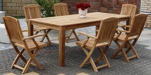 DAISY BARROW skladacie stoličky s masívnym stolom 100 x 220 cm