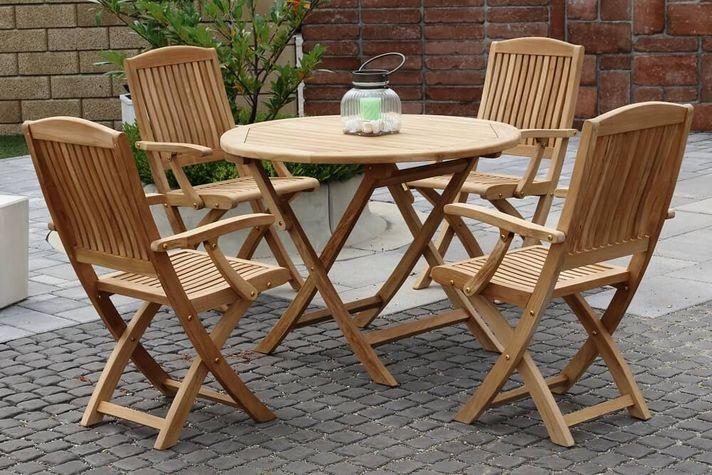 DAISY skladacie stoličky s okrúhlym stolom priemer 100 cm
