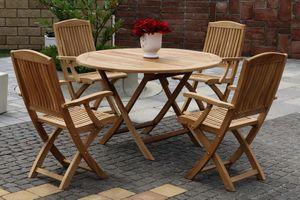 DAISY skladacie stoličky s okrúhlym stolom priemer 120 cm