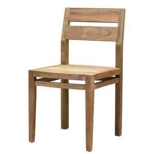HERA záhradná stolička zo starého teakového dreva
