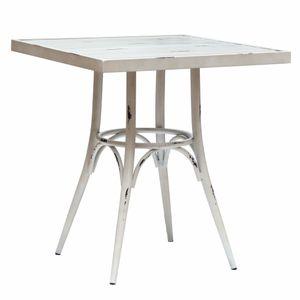 VINTAGE hliníkový švorcový stôl 70x70cm
