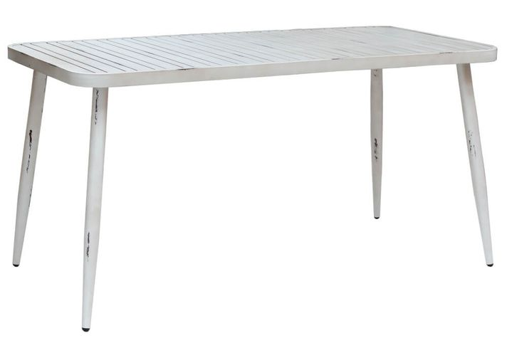 VINTAGE hliníkový obdĺžnikový stôl 75x150cm