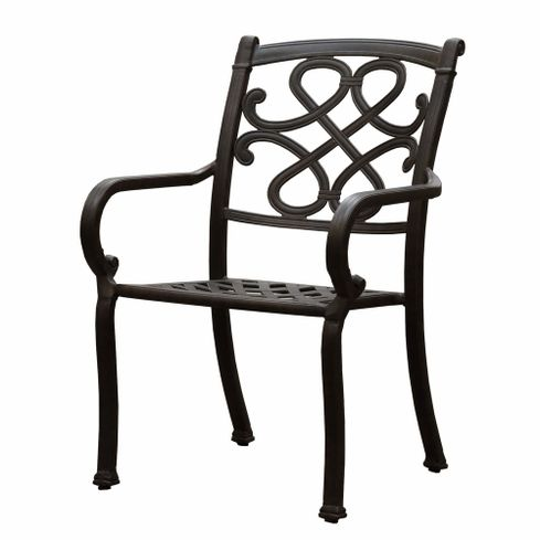 CHYVERTON kovová záhradná stolička