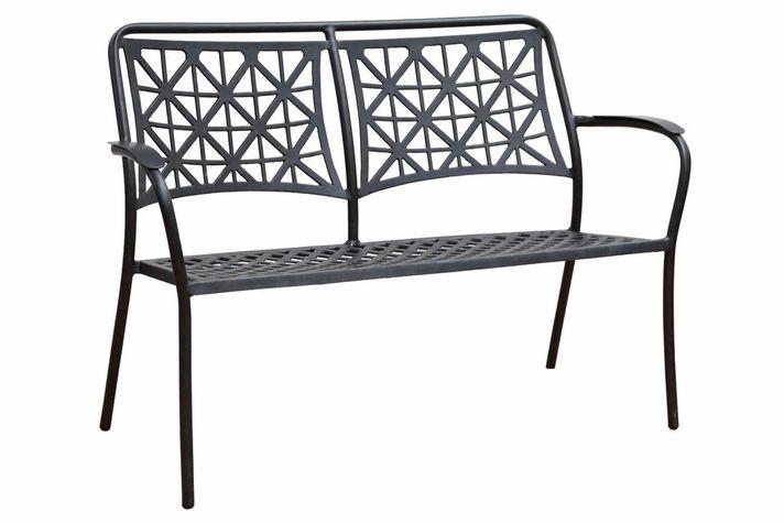 LYNTON kovová záhradná lavička