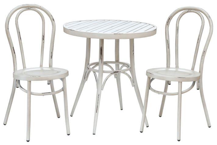 RETRO sedenie na balkón s okrúhlym stolom 70cm