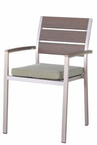 CAPRI záhradná stolička s umelým drevom