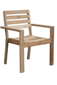 CASTELLO záhradná stolička zo starého teakového dreva