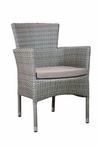 ELBA stohovateľná ratanová stolička so sedákom