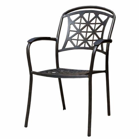 LYNTON kovová záhradná stolička