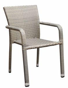 PIOMBINO stohovateľná ratanová stolička