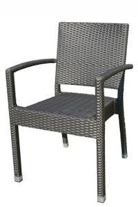 MEZZA BROWN stohovateľná ratanová stolička