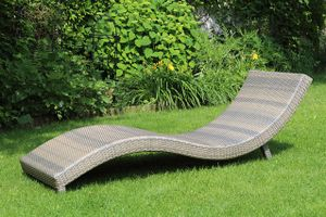 S-LOUNGER GREY záhradné lehátko z umelého ratanu