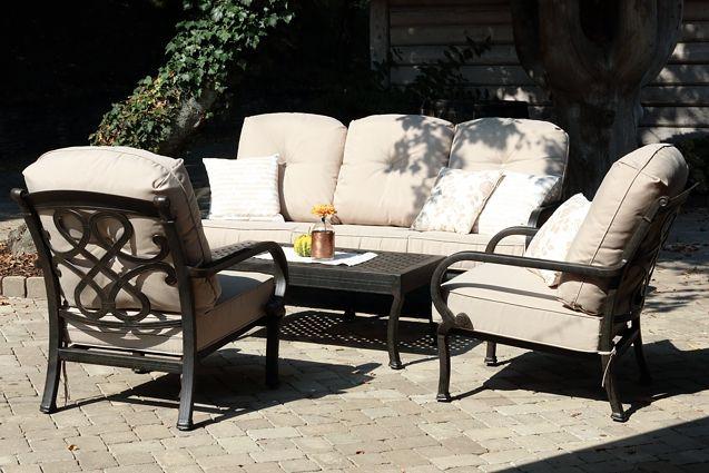 CHYVERTON LOUNGE záhradné sedenie s hliníkovou konštrukciou