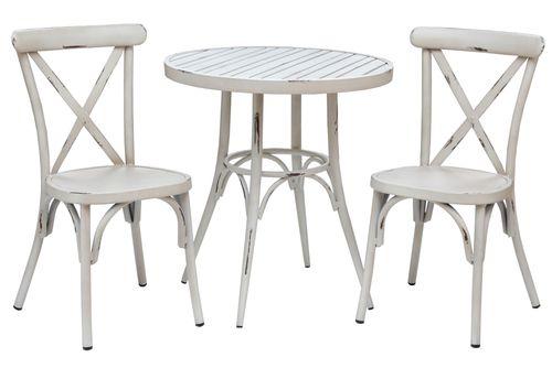 VINTAGE sedenie na balkón s okrúhlym stolom 70cm